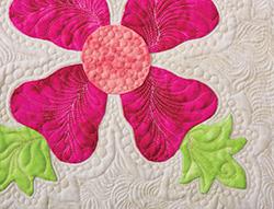 Quilting around the appliqué block free quilting.comfree quilting.com