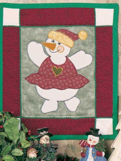 Top Dancing Snowgirl Banner