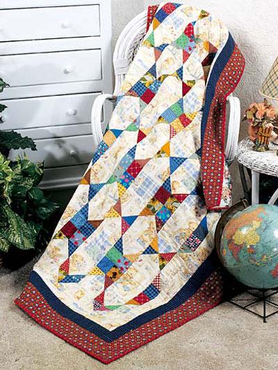 Scrap-Chain Quilt Pattern